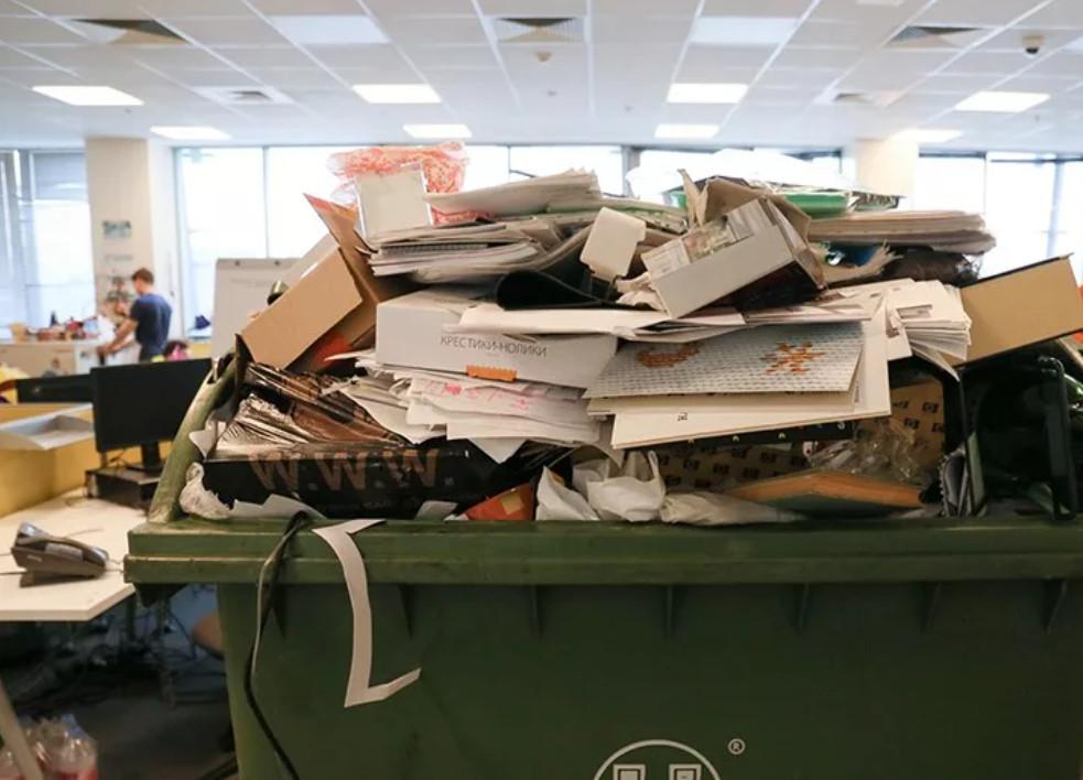 вывоз мусора из офиса